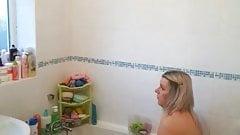 Hot Milf in Bathtub-Shower Spy Cam
