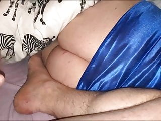 Casually stroking my dick all day - Stroking my dick next to her big ,fantastic ass on bed
