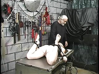 Cross referencing tables latex Red head slave is bound to table and fucked by dildo