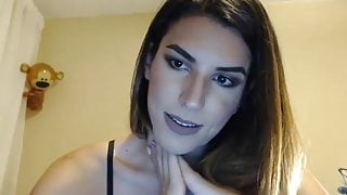 beauty Tgirl live cum on cam