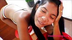 HD Break skinny lilttle Thai girl Asian ass on Bar Stool