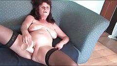 Slim saggy titted mature