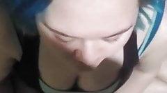 Fat girl sucks dick