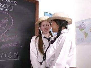 Lesbian ms Ms. rouge with sasha and vicki as teacher and schoolgirls
