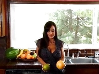 Fruits for fuck Lisa - cutting fruits in the kitchen