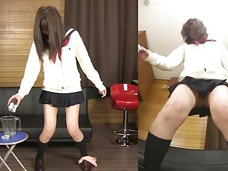 Pee flow desperate work accident - Subtitled japanese schoolgirl pee desperation game in hd