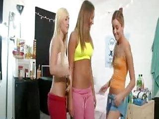 Teen handjob orgy College girls part 1