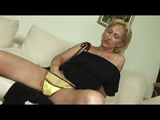Suck man Blonde mature masturbates and sucks and fucks with old man
