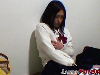 Sensual asian girls Cute japanese sensually rubs herself while secretly filmed