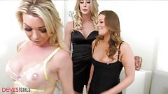 She Is DP Destroyed In A Trans-Threesome With Aubrey Kate