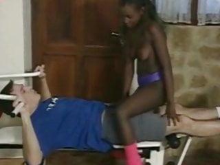 Gay fucked at gym - Black girl fucks sucks white dick at gym - part 1