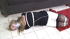 Girl Bound and Duct Tape Gagged Bondage
