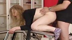 Pretty german blonde has an anal threesome