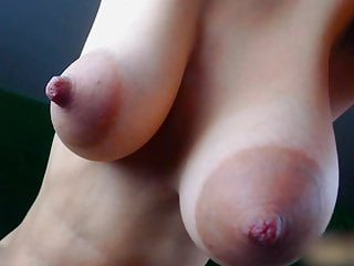Rate boobs Girl play with her big juicy boobs