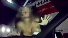 Cuckold Recording wife dogging aginst Windscreen