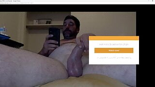 thick cock young daddy play with his cock on cam