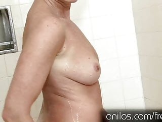 Sex position in the shower videos - Hot mature masturbating in the shower with her toy