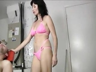 Super naughty bikinis - Naughty milf gives a handjob massage