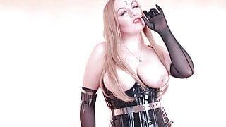 Cum Eating Instructions, CEI FemDom POV fetish BDSM video