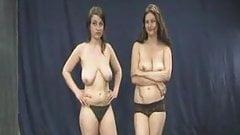 巨乳と闘う女性