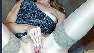 Wife fingers herself to orgasm