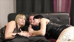 Real German Step Sisters at Homemade FFM Threesome in Hotel