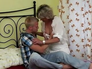 Mom fuck young Blonde mom fuck boy
