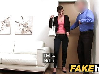 Models with fake breasts - Fake agent model vicky love takes cumload on her great tits