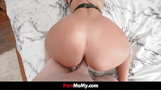 Guy Comes Home To Stepmom Naked And Spread With Ballgag