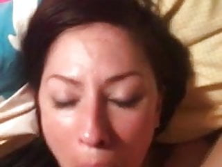 Fuck shoots Fucking her mouth and shooting on her face