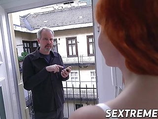 Suck on grandpas cock Young redhead stuffed with grandpas cock and cum