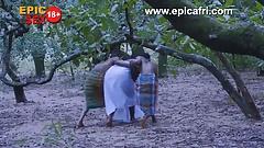 blond African Warriors Gives Village goddess Double Penetration bikini