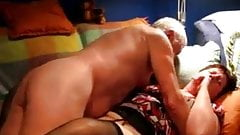 Older Couple  Having Fun on Couch