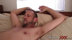Sex starved guy is eager to sit on that fat dick and ride it