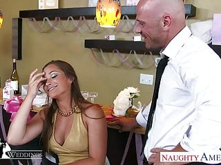Naked at wedding reception Hot brunette dani daniels fucking at wedding