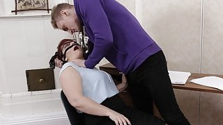 TUTOR4K. Insistent fellow manages to fuck submissive tutor