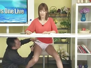 Female vagina live - Jnn japanese female announcer gets fucked on live tv 18-23