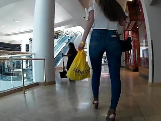 Sexy jean ass Tight jeans wide pussy gap sexy walk