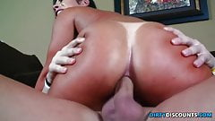 Rimmed ass fucked babe