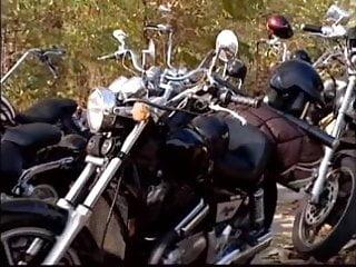 Biker upskirt - Dirty blonde fucked by biker gang fyff
