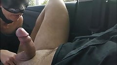 Hot wife in public car parking suck big cock of a stranger