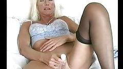 Blonde Lingerie Granny Fingering
