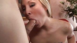 Stunning blonde with tatttoed breast Malia Kelly seduced her schoolmate uncle