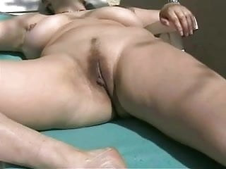 Dildo mature amateur Busty mature amateur wife outdoor dildo masturbation