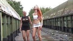 Two east German sluts on tour