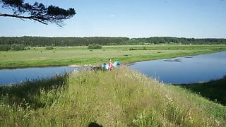 Upon Volga river on large space
