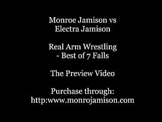 Nude wrestling male vs female Real arm wrestling electra vs monroe female arm wrestling
