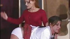 Spanked lesbian School Girl