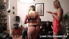 2 belges blondes aux gros seins sodomisees dans une partouze