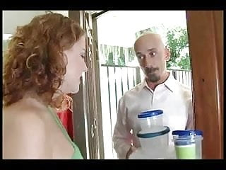 Mom fucked by calling salesman Redhead cherry at her chunkiest fucks salesman